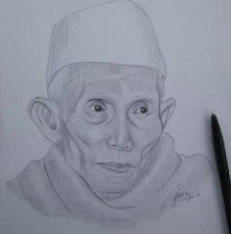 kyai-sahal-pencil